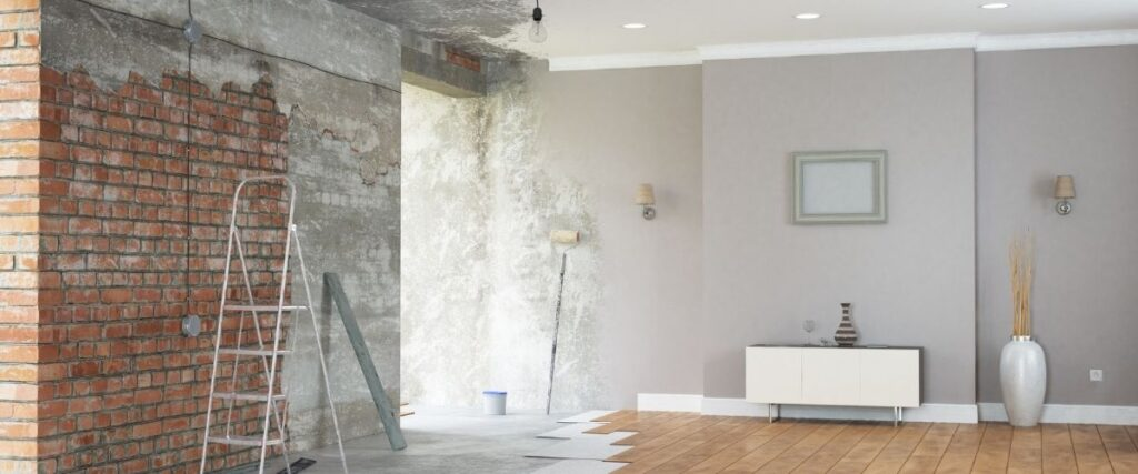 An image showing the process and how to do a room remodel.