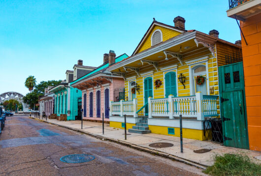 Photo of colorful New Orleans homes