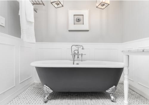 mlm incorporated clawfoot tub grey white bathroom silver feet