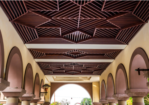 wood decorated ceiling