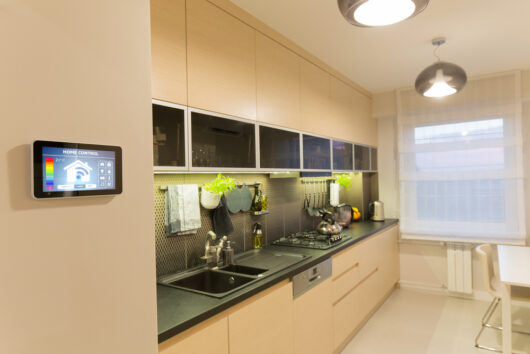 Photo of new modern kitchen techology