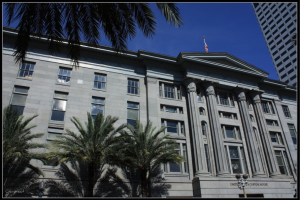 An image of the U.S. Custom House, which is one of New Orleans' historic buildings according to MLM Incorporated in New Orleans, LA