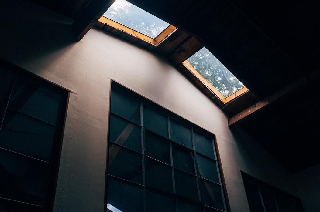 Skylights in a residential home