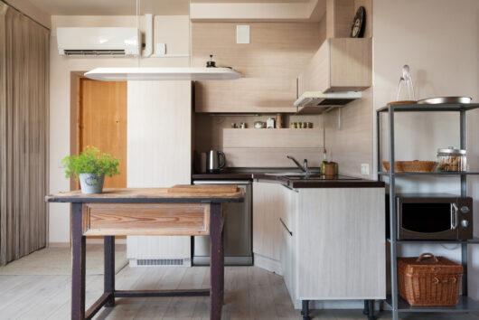 Photo of a small modern kitchen